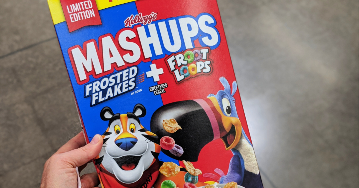 Kellogg's Mashups Cereal mixes Frosted Flakes and Froot Loops