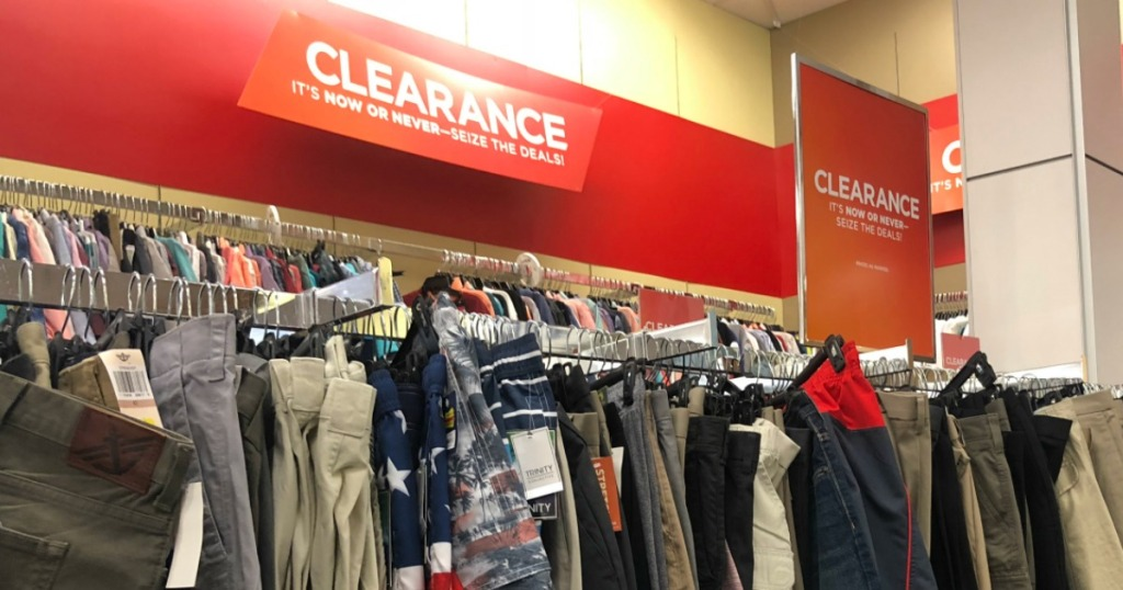 clearance racks at Kohl's