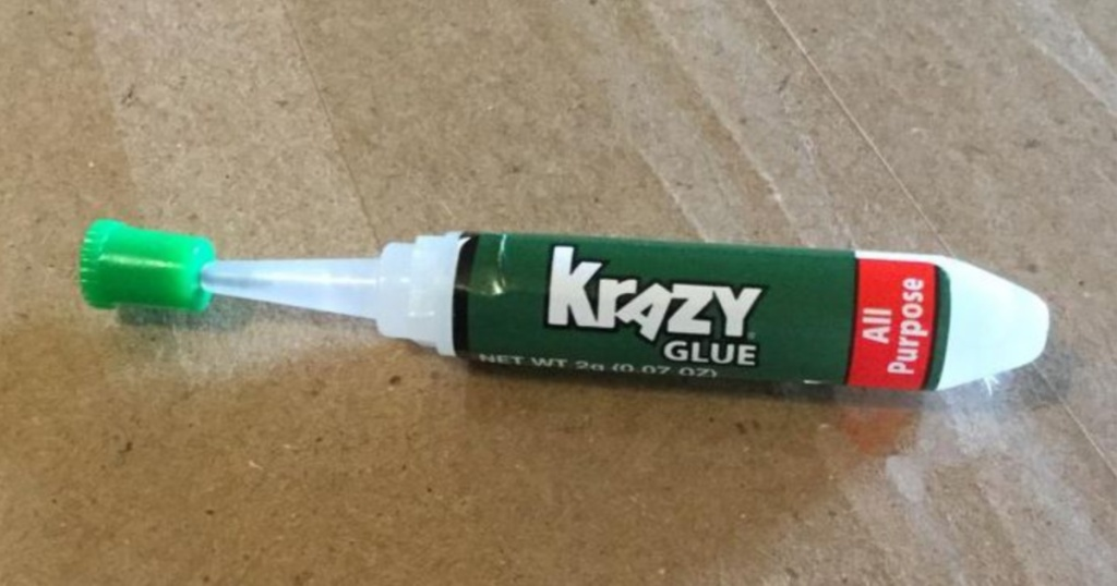 Krazy Glue on table