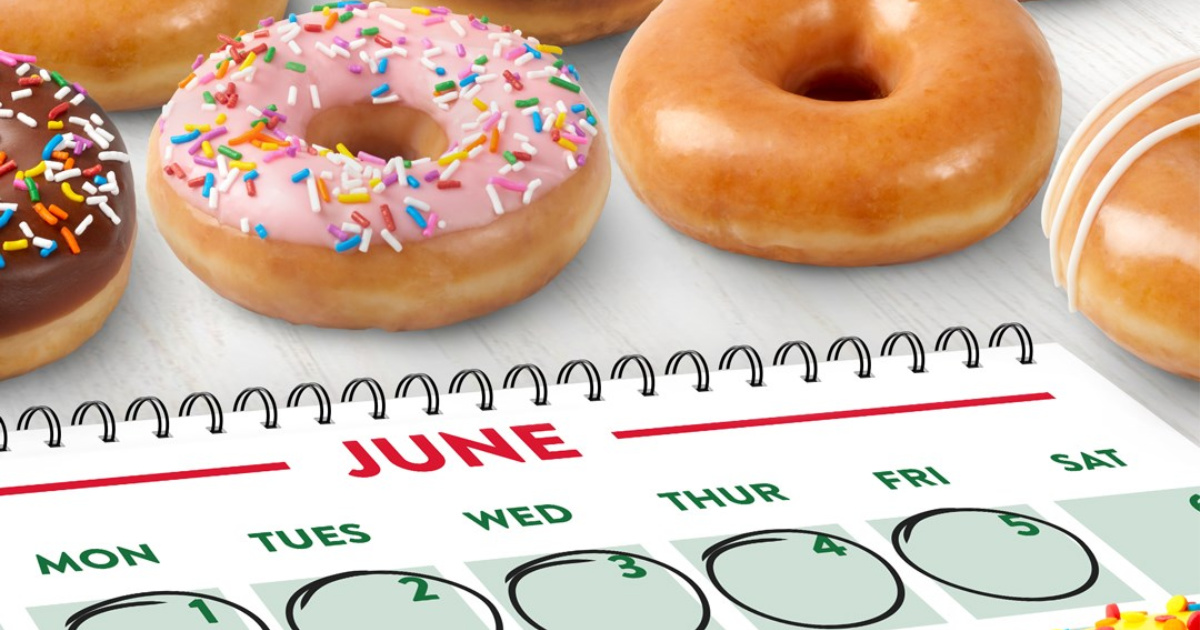 Krispy Kreme Donut Calendar with first week of june circled