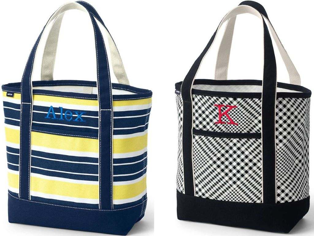 two canvas tote bags