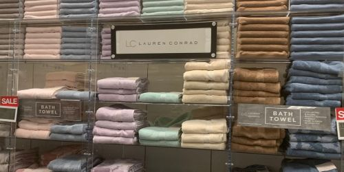 LC Lauren Conrad 6-Piece Bath Towel Set Just $23.99 at Kohl's (Regularly $80)