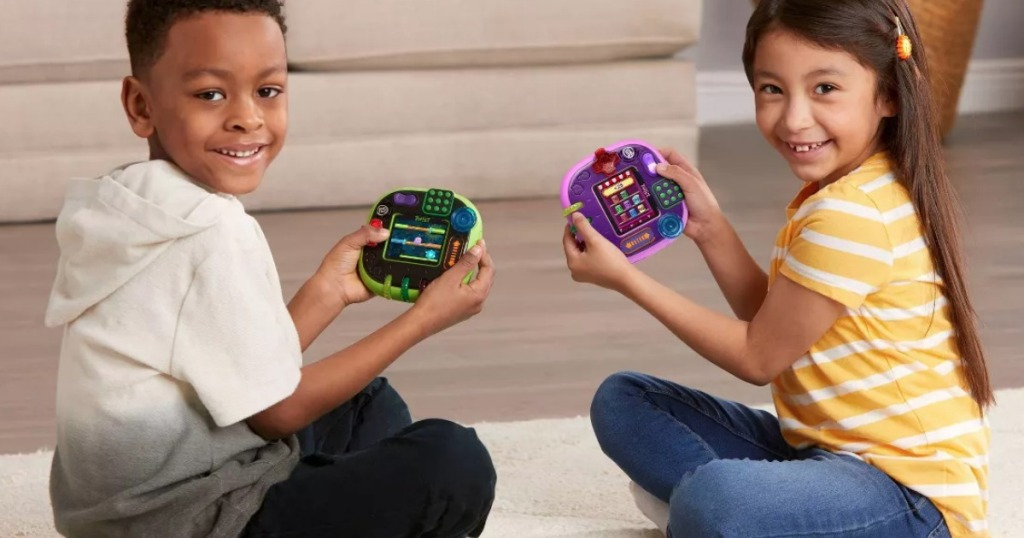 kids playing with LeapFrog RockIt Twists