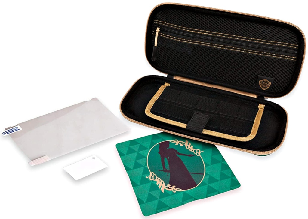 Legend of Zelda PowerA Protection Kit for Nintendo Switch with all contents shown