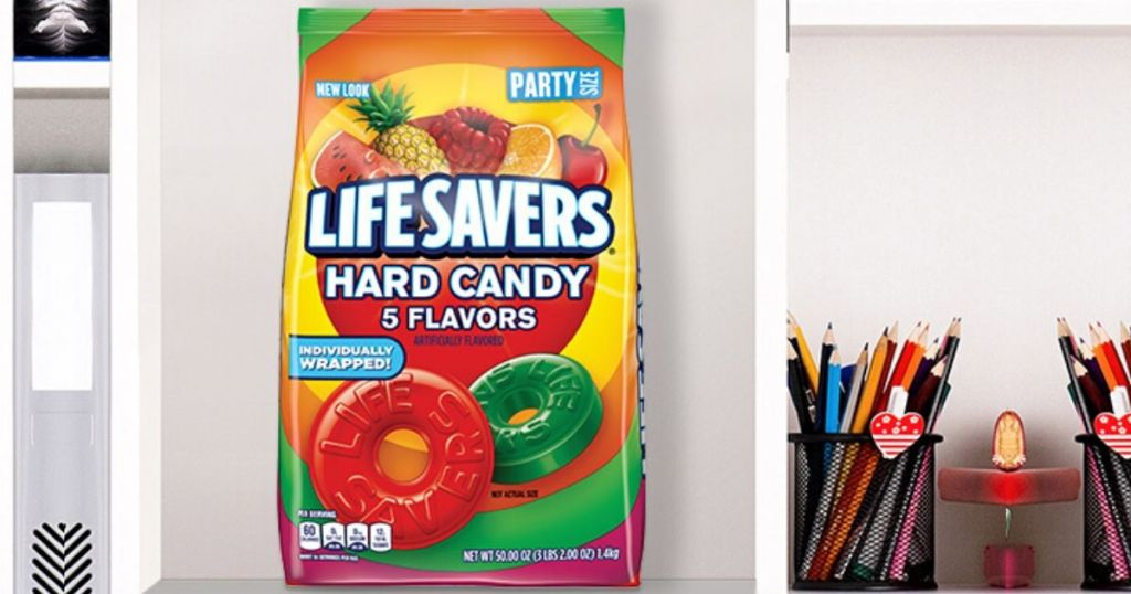 huge bag of lifesavers hard candy on shelf