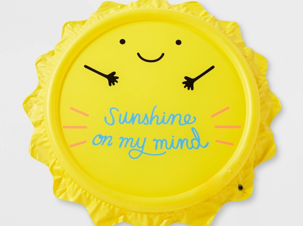 yellow smiling sun sunshine sprinkler