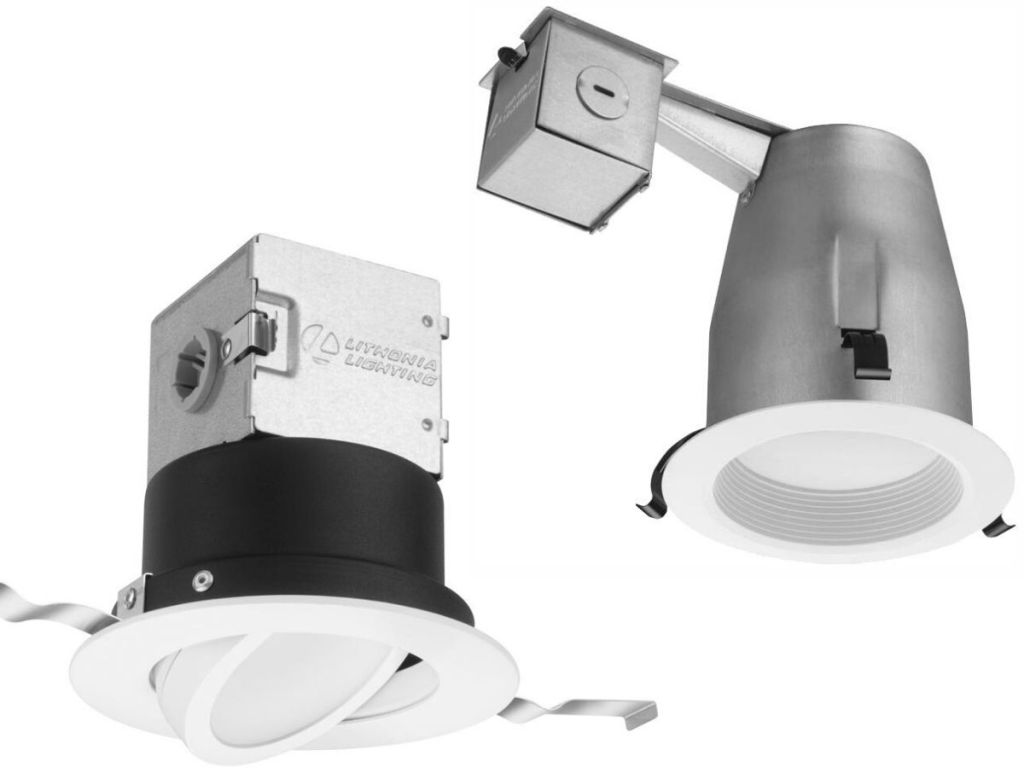 two different recessed lighting fixtures