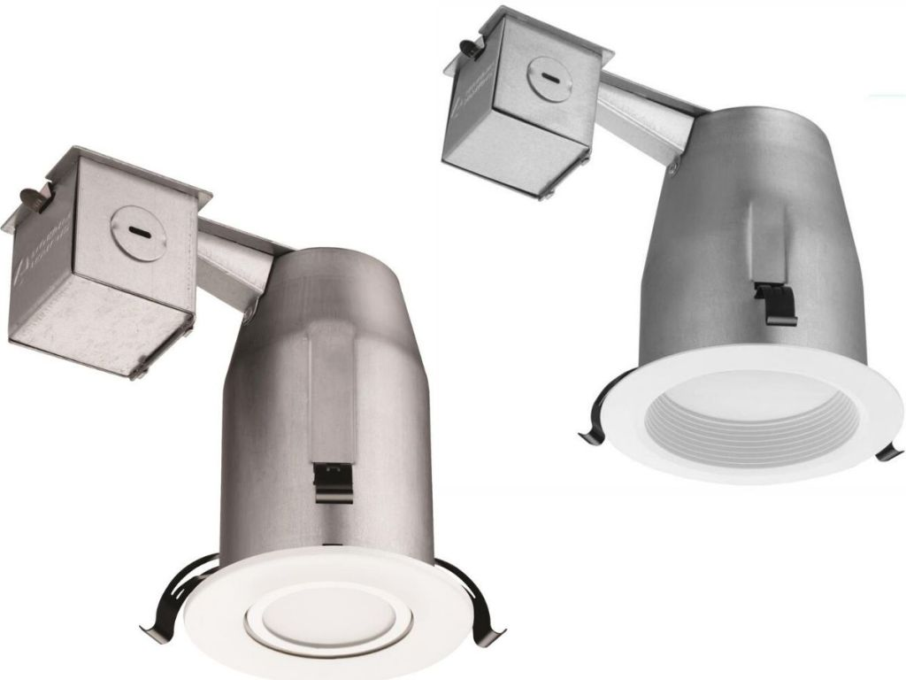two different types of recessed lighting
