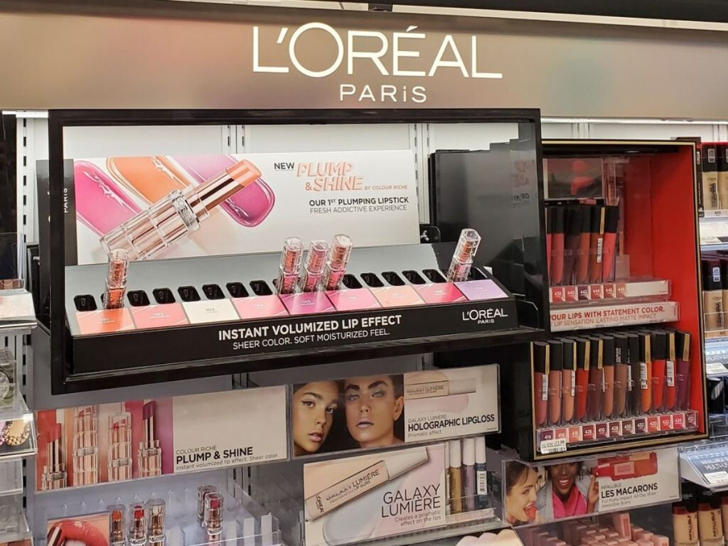 L'oreal shelf at CVS
