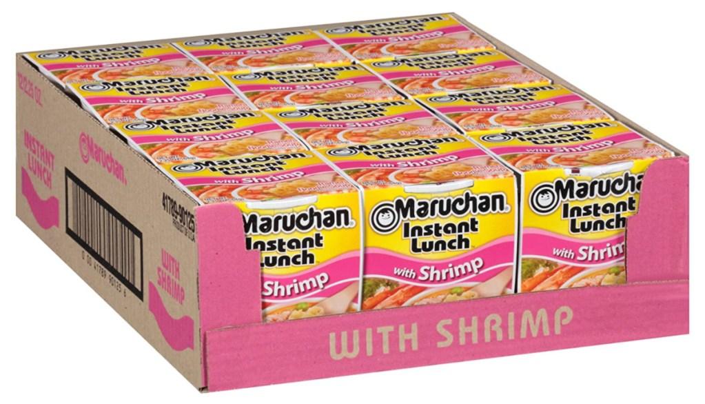 Maruchan Instant Lunch Cups of Noodles shrimp flavor