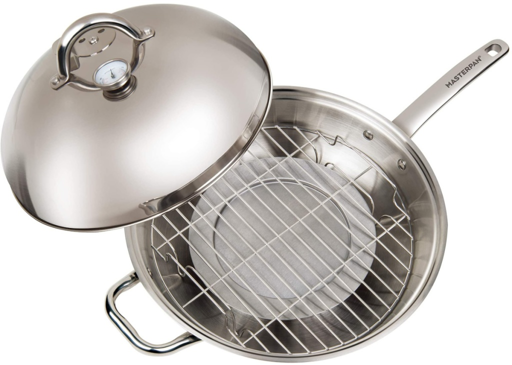 stainless steel wok with lid