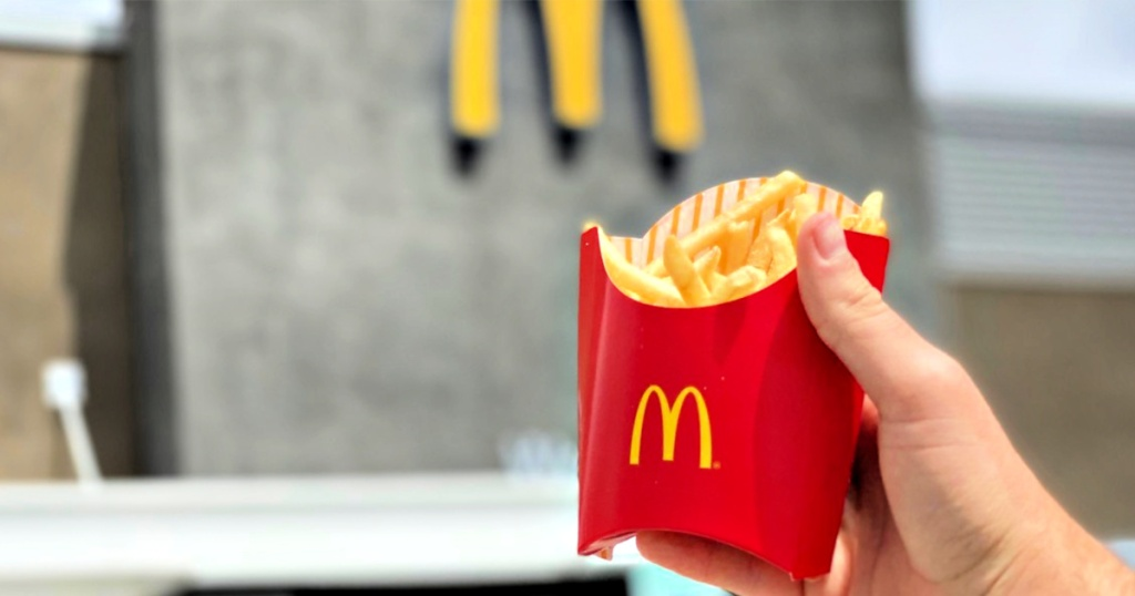 McDonald's French Fries in person's hand