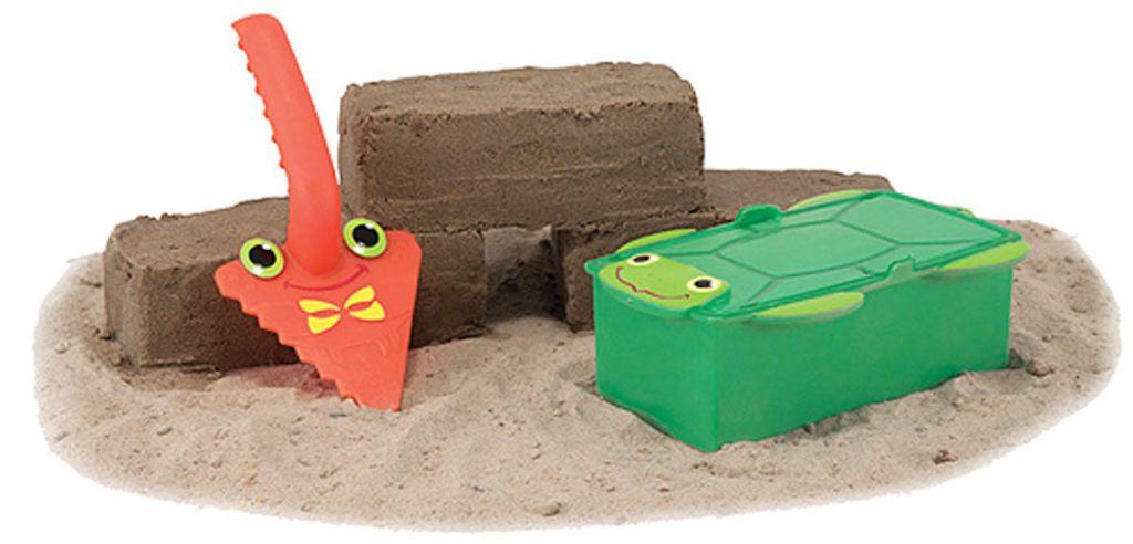 Melissa & Doug Seaside Sidekicks Brick Building Sand Toy on sand