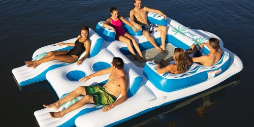 This Floating Island Holds 6 People AND Has 2 Coolers (Plus It's on Sale at Sam's Club!)
