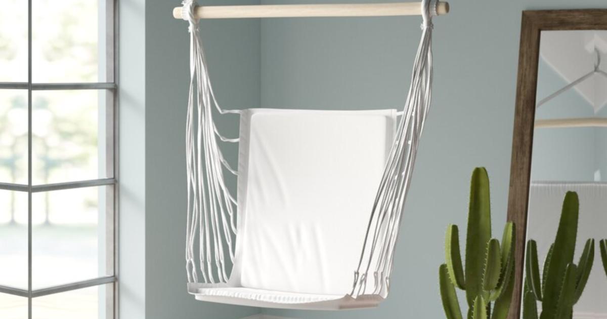 white hammock swing inside