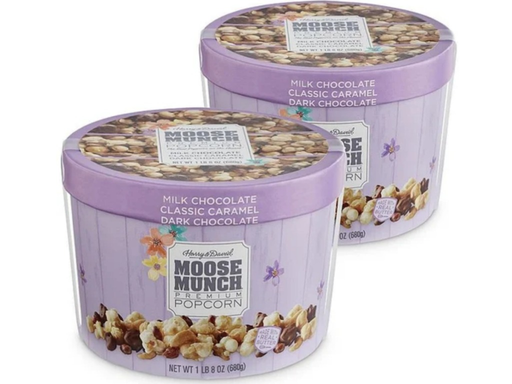 2 pack of Moose Munch Premium Popcorn Spring Drums