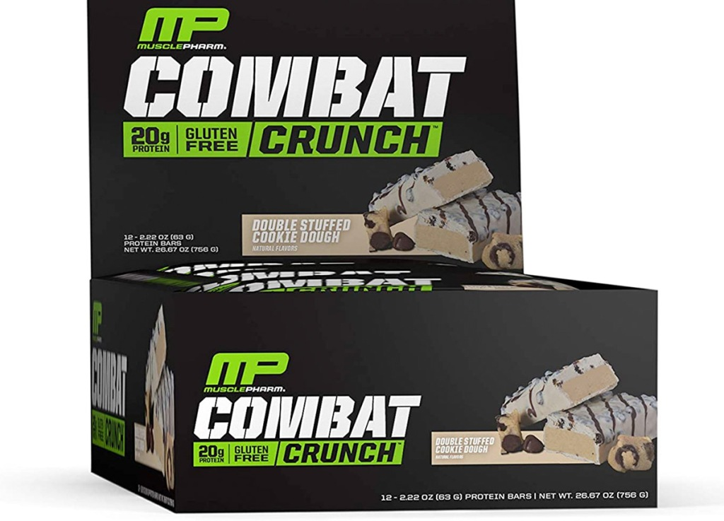 black box of 12 musclepharm cookie dough protein bars
