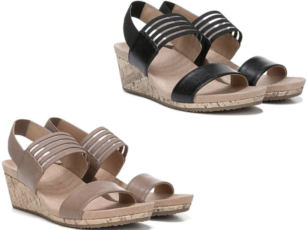 two pairs of womens sandals