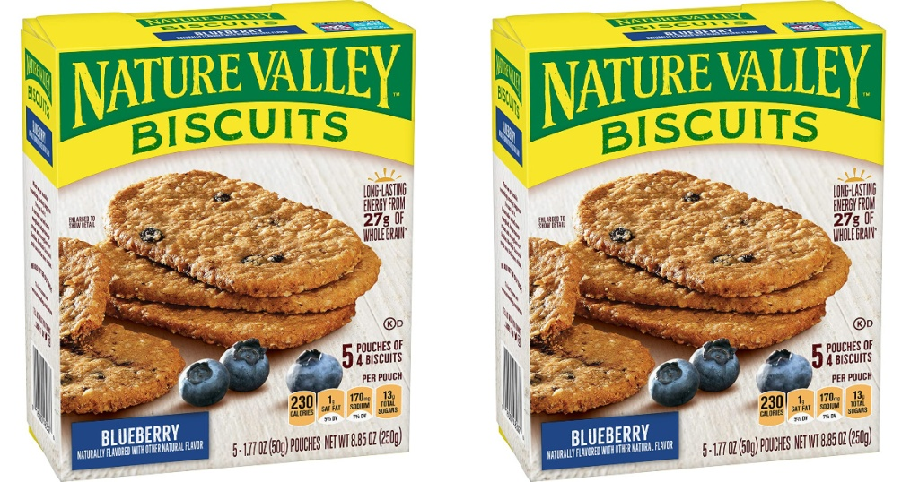 2 boxes of nature valley blueberry biscuits