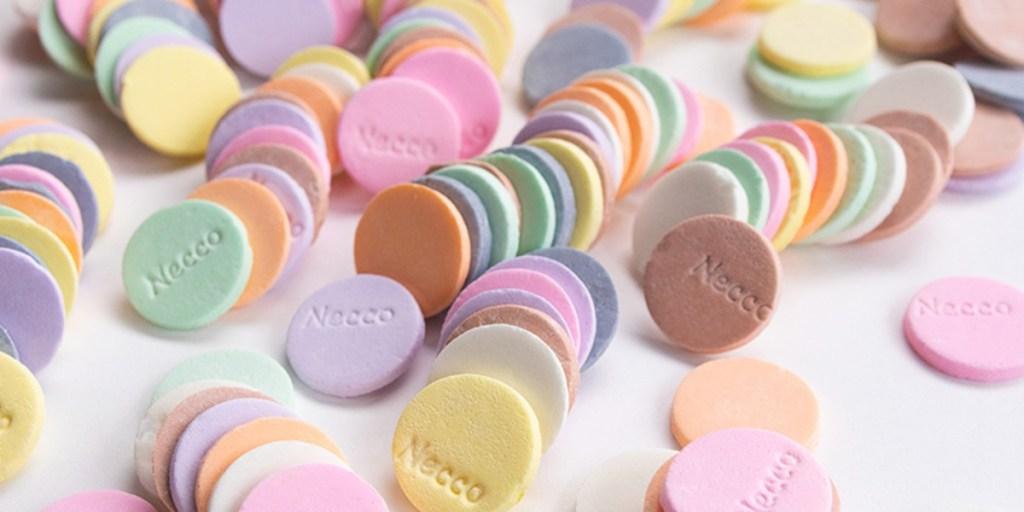 unwrapped Necco wafers