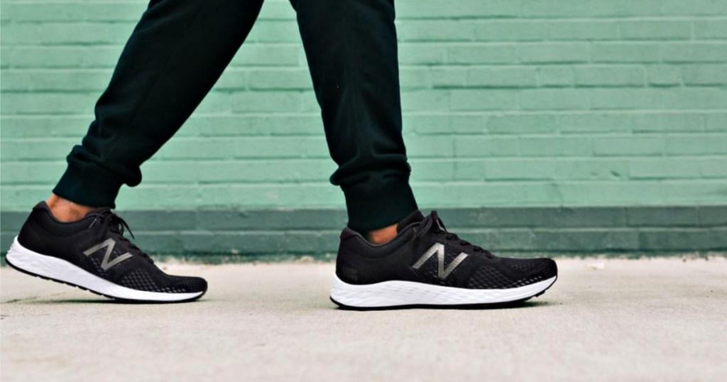 New Balance Men's Fresh Foam Arishi v2 Running Shoes on man walking