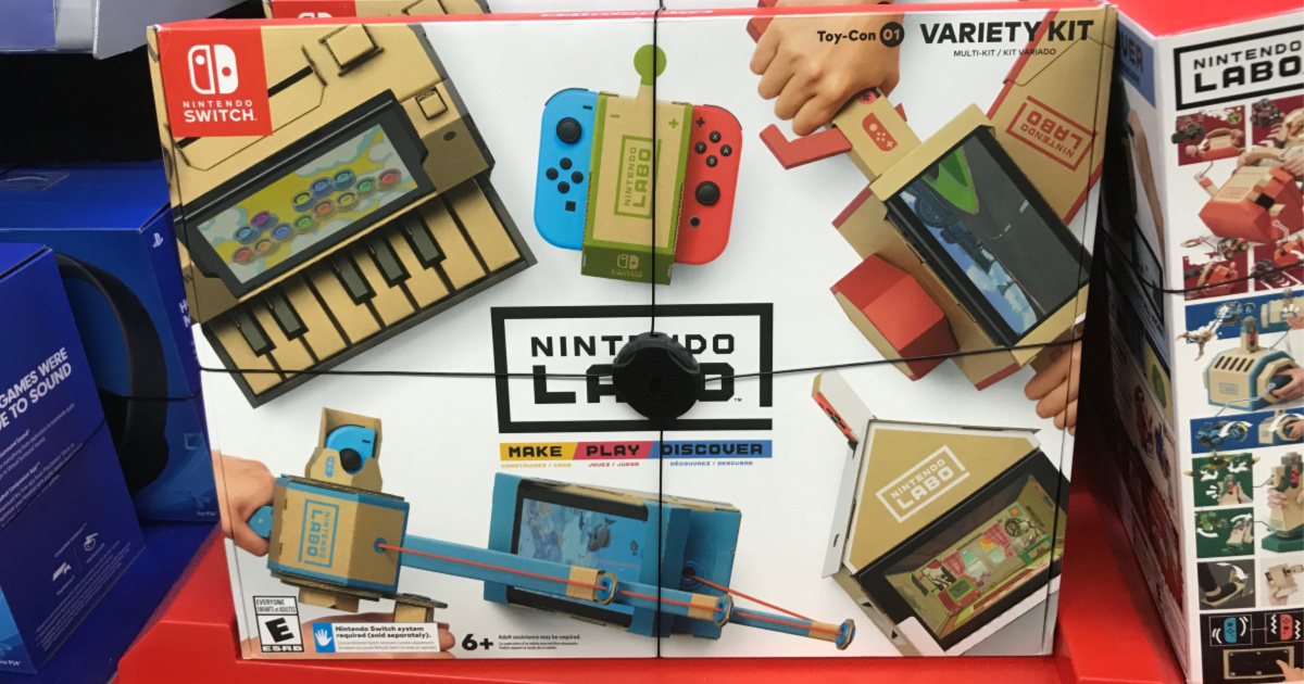 Nintendo Labo gaming console vr game kit in store