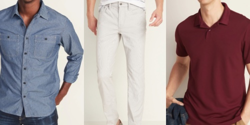 Up to 70% Off Old Navy Men's Apparel   Prices from $6
