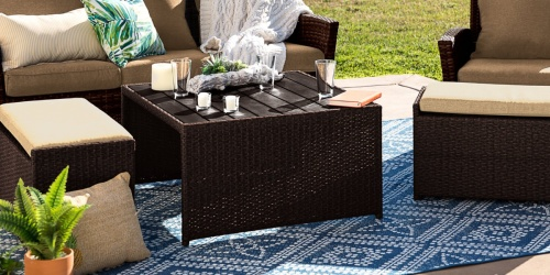 Outdoor Wicker 3-Piece Conversation Set Only $189.99 Shipped