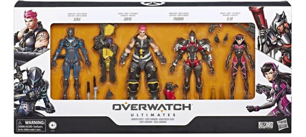 four pack boxed set of figurines from the overwatch video game