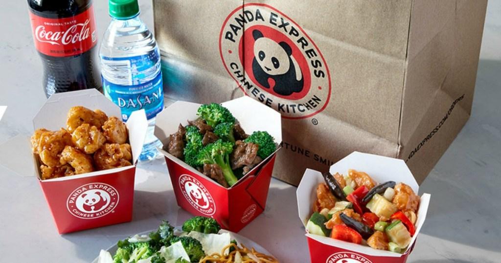 various Panda Express family meals