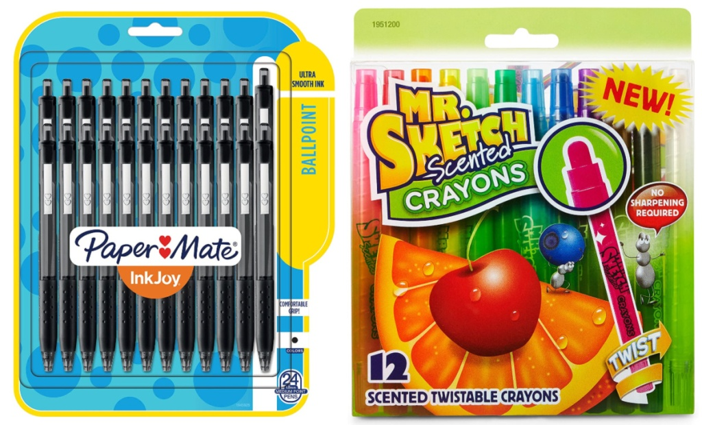 Papermate Inkjoy Pens and Mr. Sketch crayons