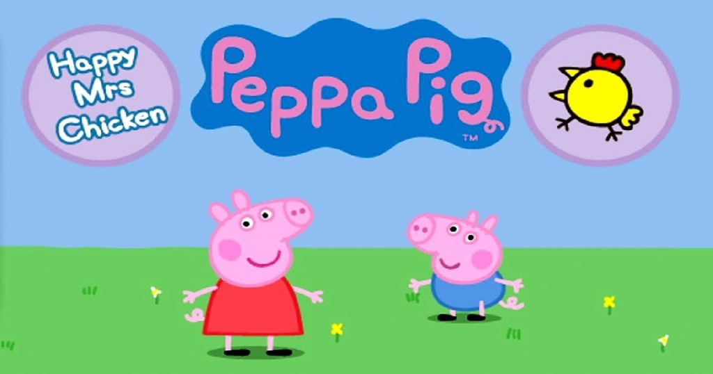 opening screen for the peppa pig happy mrs chicken game app