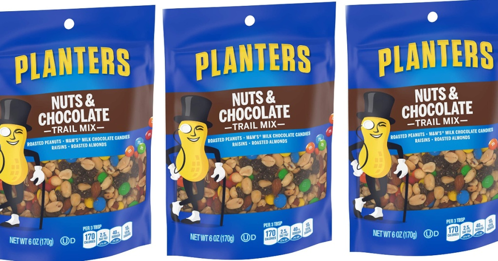 Planters Nuts and Chocolate Trail Mix 6oz Bag