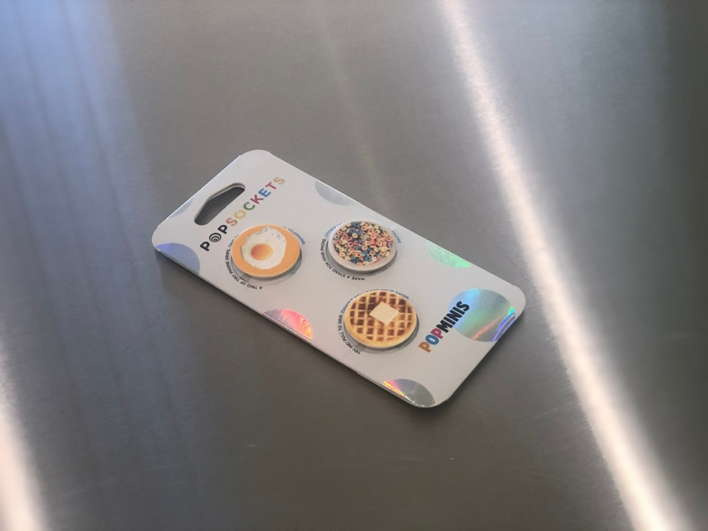 popsockets minis egg cereal and waffle