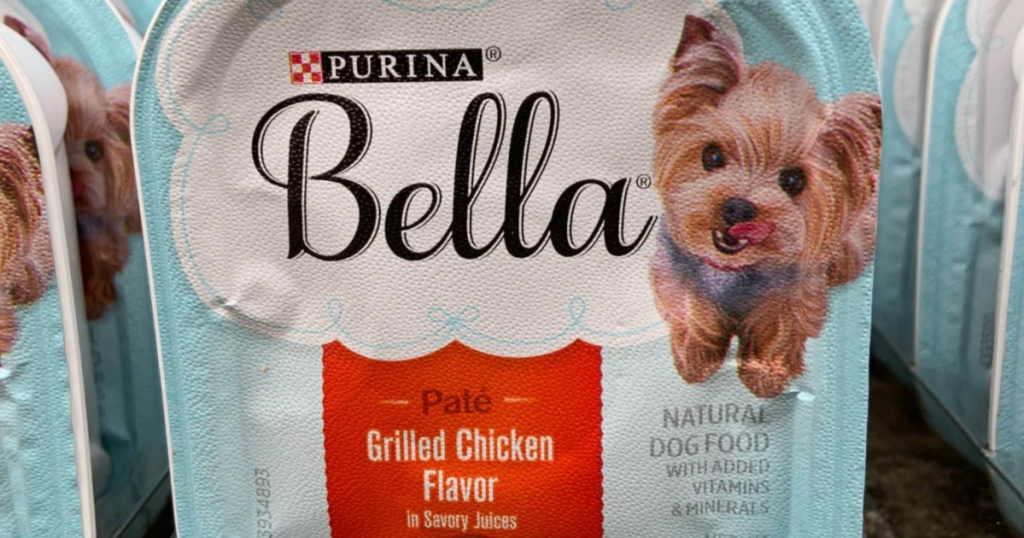 small tray of grilled chicken flavor dog food