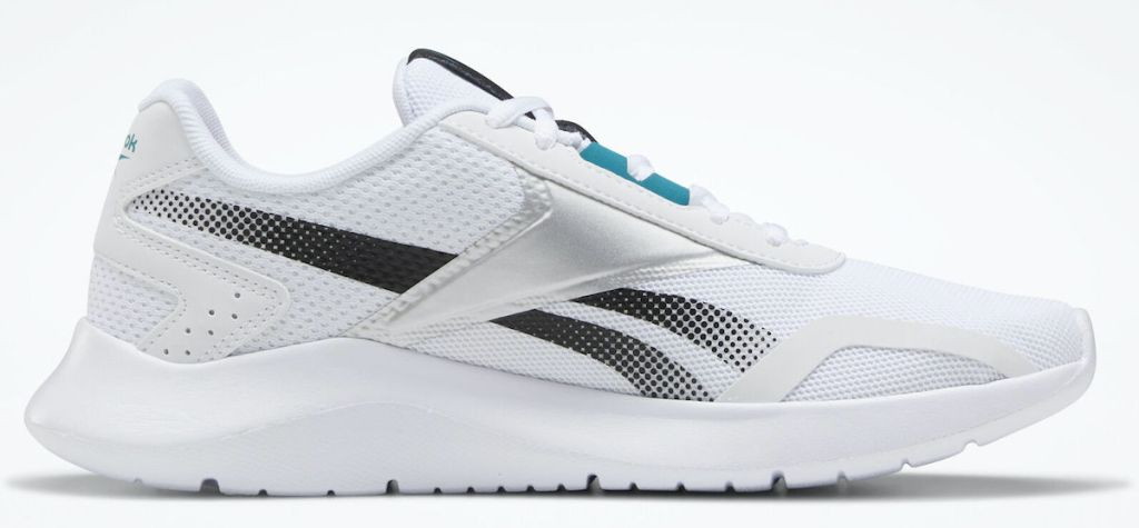 grey, white, and light blue pair of reebok energylux 2 women's shoes