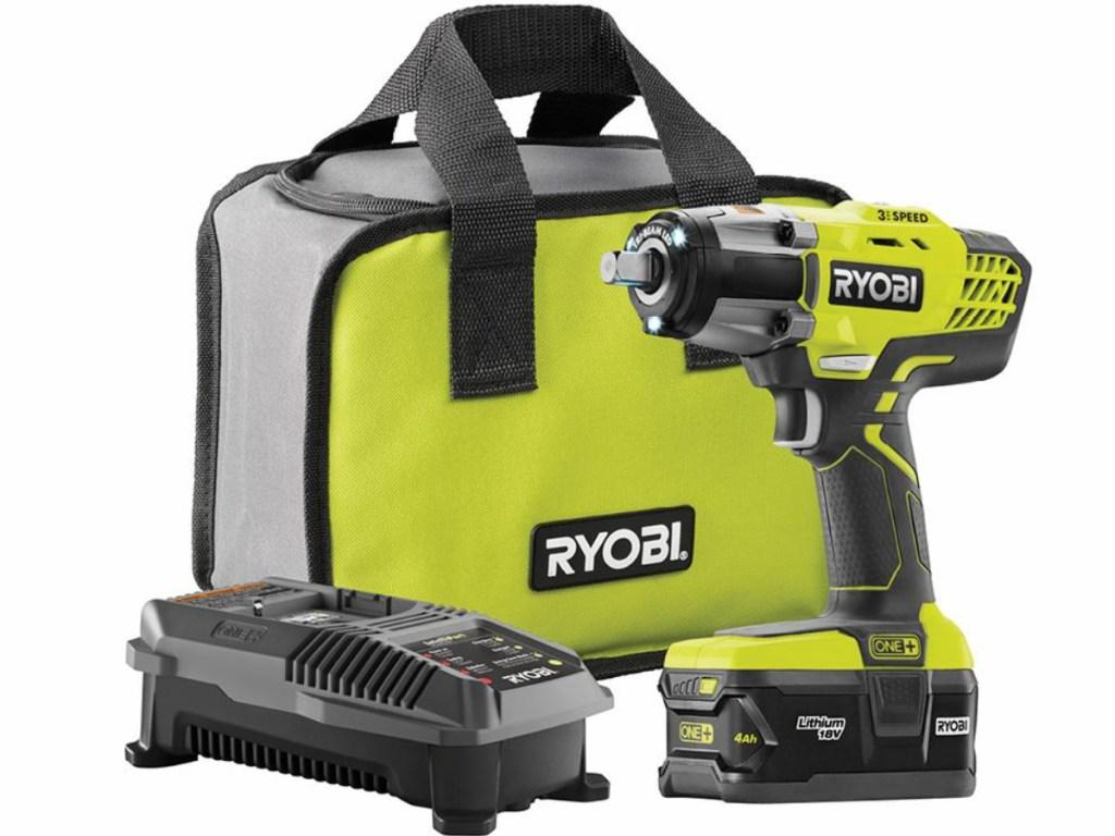 Ryobi wrench charger and bag