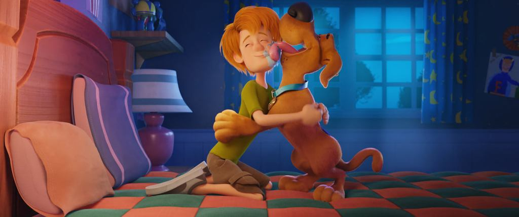 Shaggy and Scooby-Doo hugging