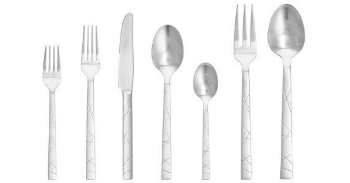 stock image of brushed flatware