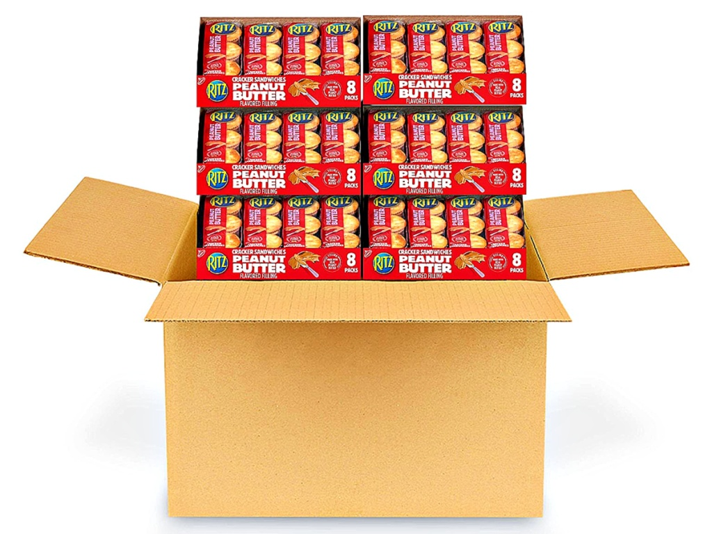 Six Boxes of Ritz Peanut Butter Sandwich Crackers 8-Packs