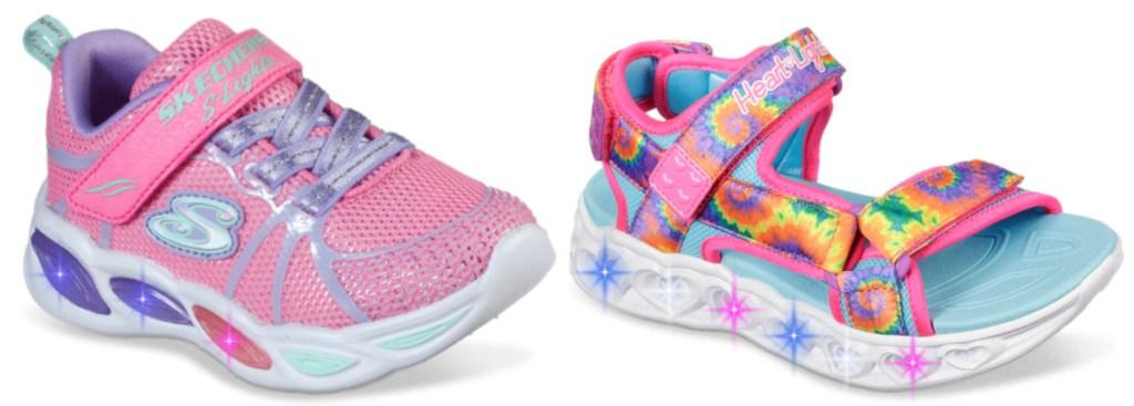 Skecher light-up shoes for girls