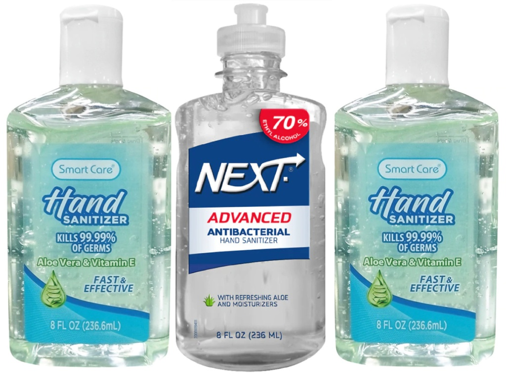 SmartCare and two bottles of Next Hand Sanitizer