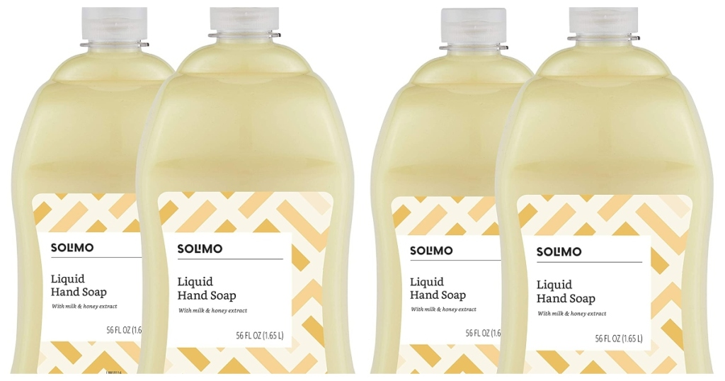Solimo Liquid hand soaps. two, two packs