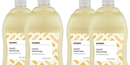 TWO Solimo Hand Soap 56-Ounce Bottles Only $10.49 on Amazon | Just $5.25 Each