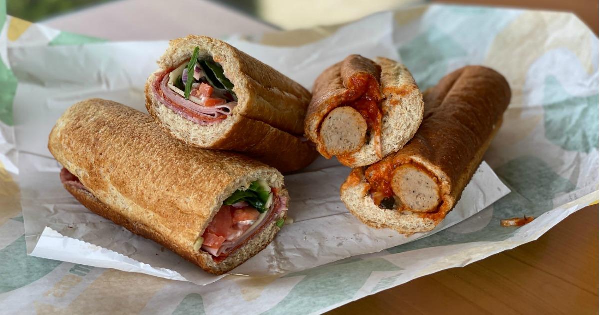Subway Footlong Sandwiches
