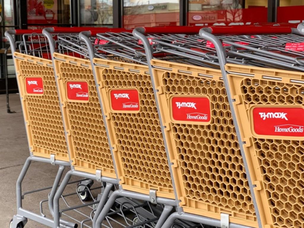 TJMaxx store carts in line