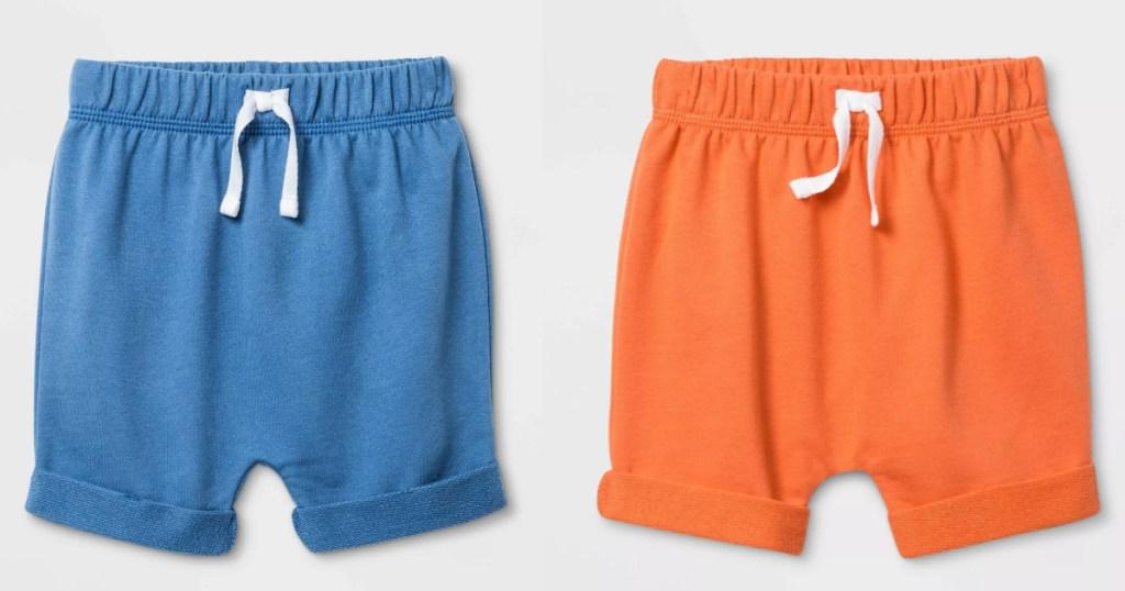 2 pairs of baby shorts