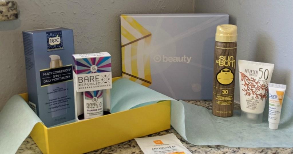 Target sunscreen Beauty Box
