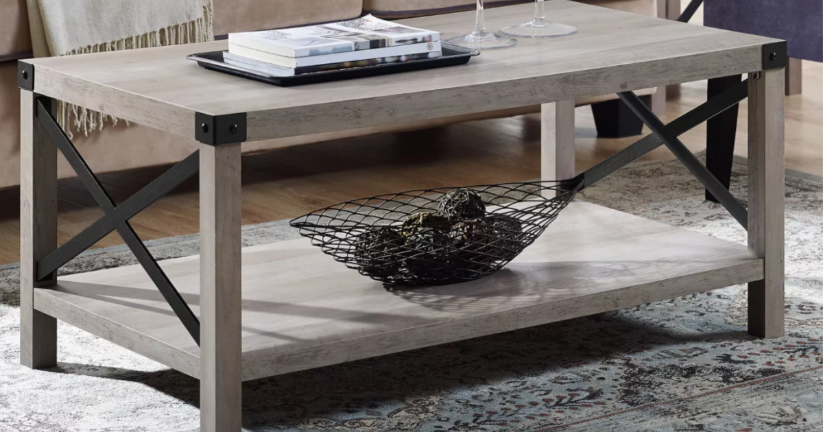 Rustic Farmhouse Coffee Table Only 117 Shipped On Target Com Regularly 170 Hip2save