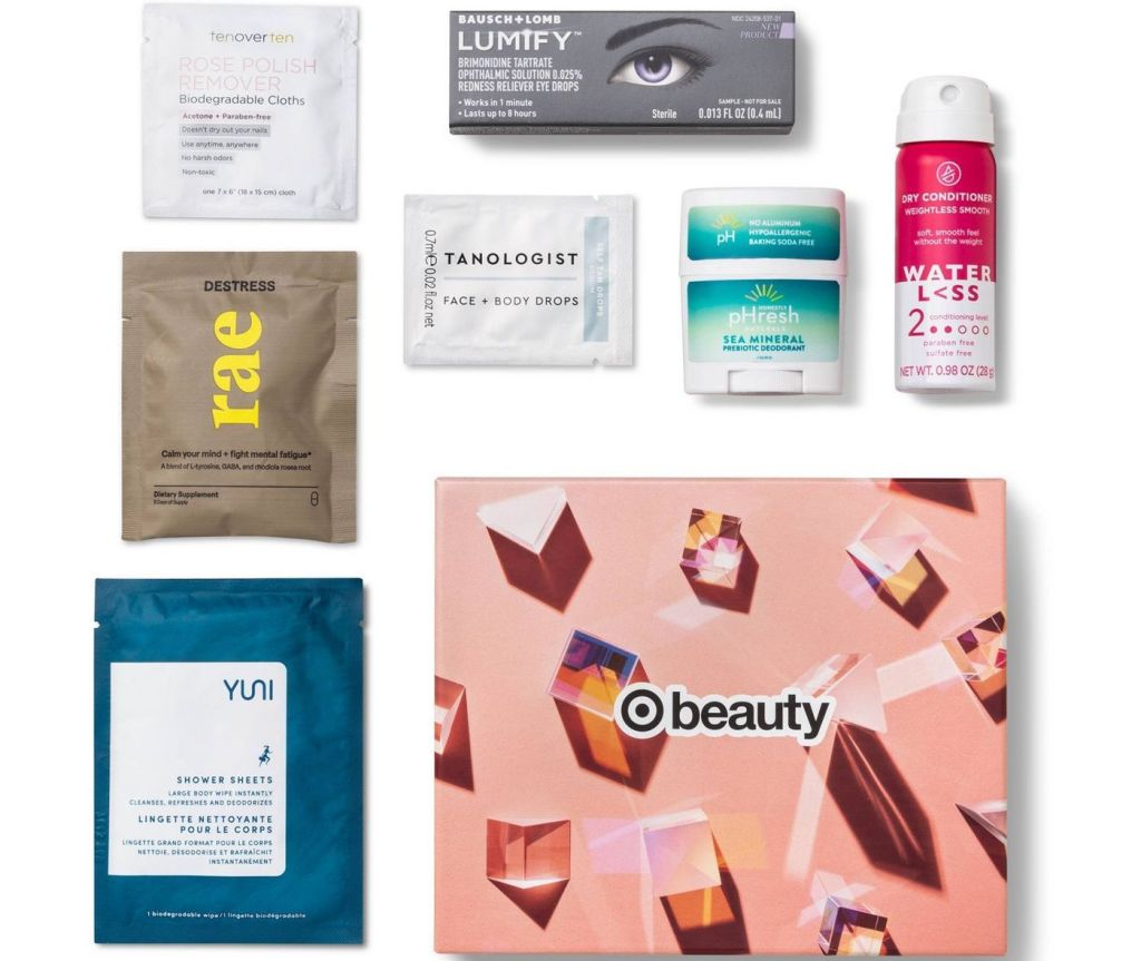 Target beauty box with samples